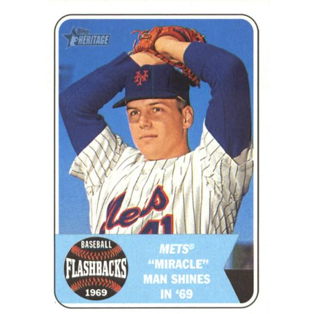 2018 Topps Heritage Baseball Flashbacks Bf Ts Tom Seaver New York Mets Baseball Card