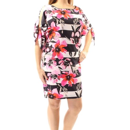 Vince Camuto NEW Pink Black Womens Size 8 Floral Stripe Sheath Dress Multi Wear Dress