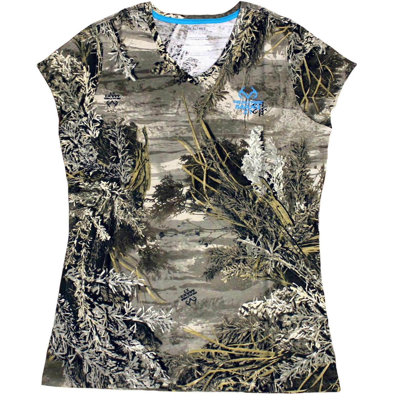 Women's Short Sleeve Camo Hunting Tshirt, Max 1XT
