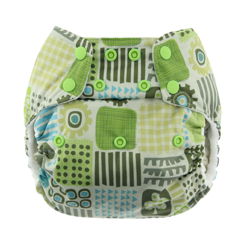 Blueberry One Size Bamboo Pocket Diaper - Geo