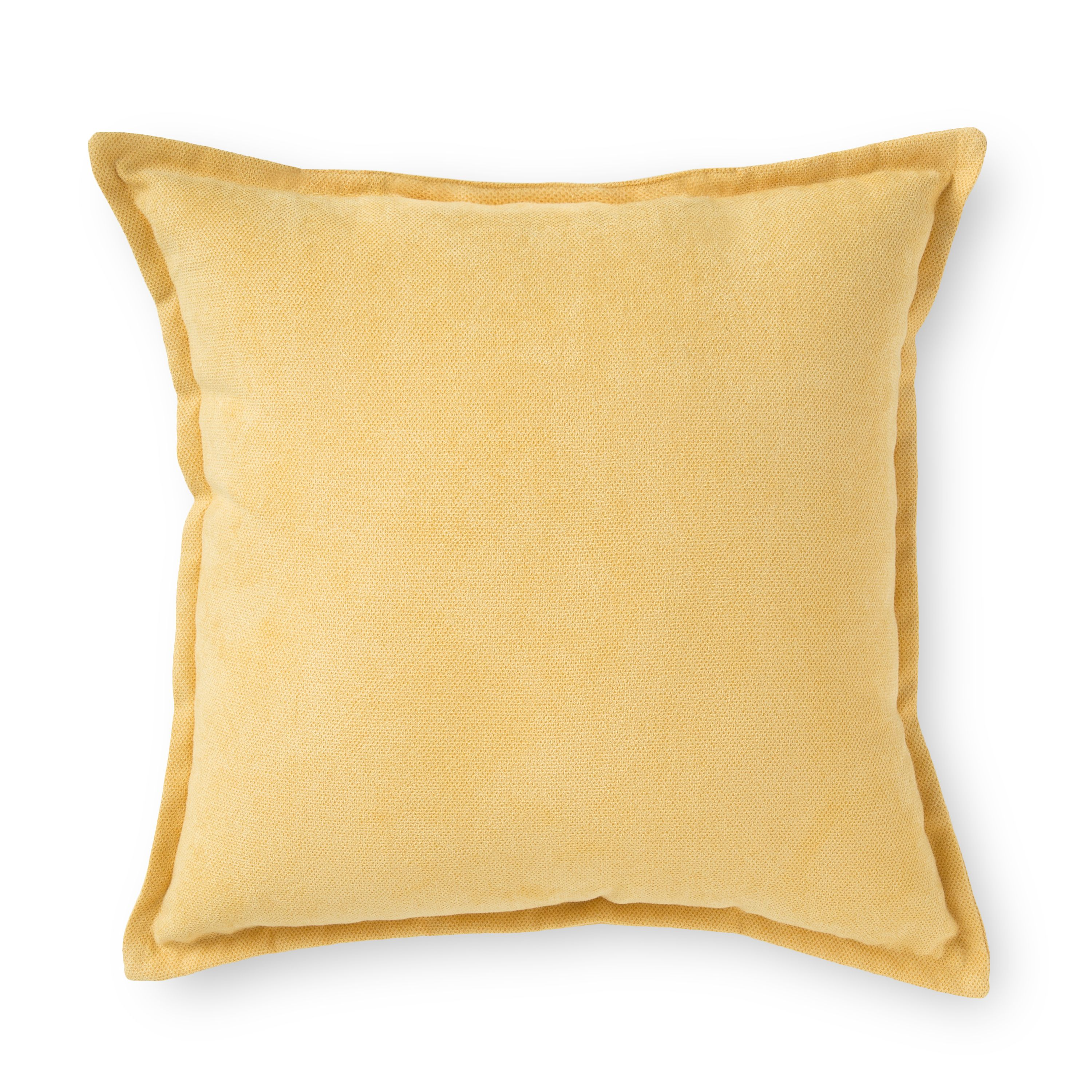 Orange Kitty of Love Faux Suede Square Pillow