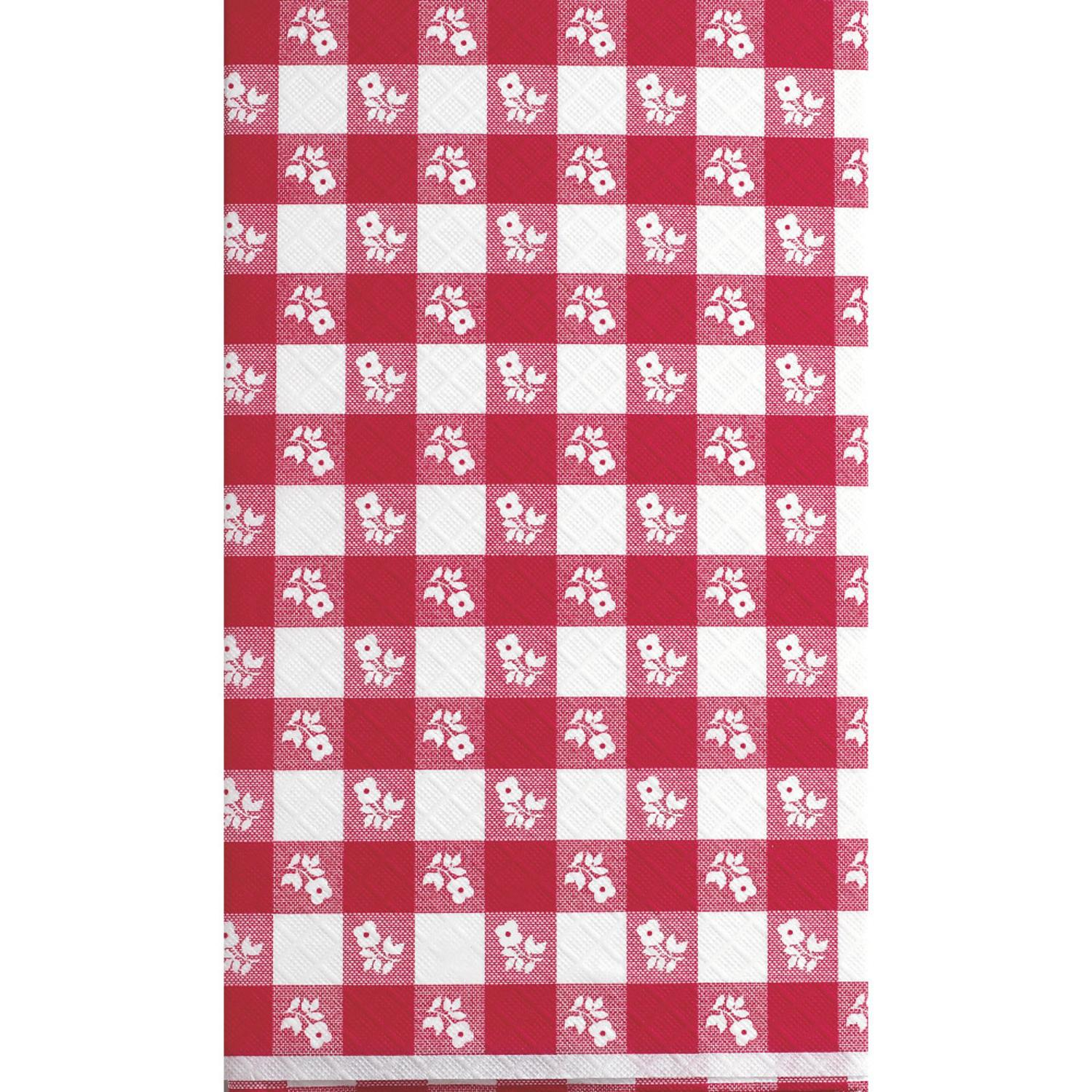 Club Pack of 12 Red Gingham Disposable Plastic Picnic Par...