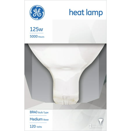 GE INCANDESCENT HEAT LAMP 125W BR40 FLOOD LIGHT (Best Near Infrared Light Bulbs)