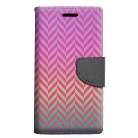 release date: 1264e 43024 Apple iPhone SE Wallet Case - Rainbow on Chevron Mini Pink Case