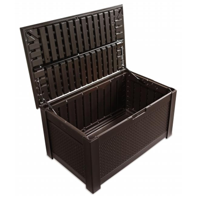 46 in. L X 28.5 in. W X 23.5 in. H Patio Chic Brown Storage Bench