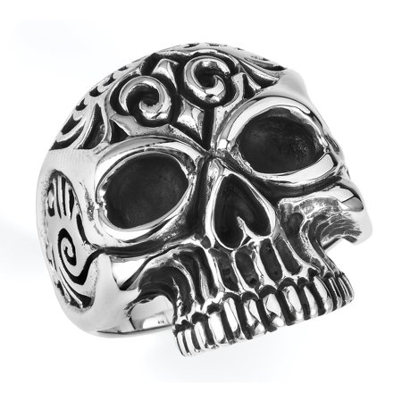 Stainless Steel Casting Skulls Ring (Available in sizes 10 to 14) size 12 - Plastic Skull Rings