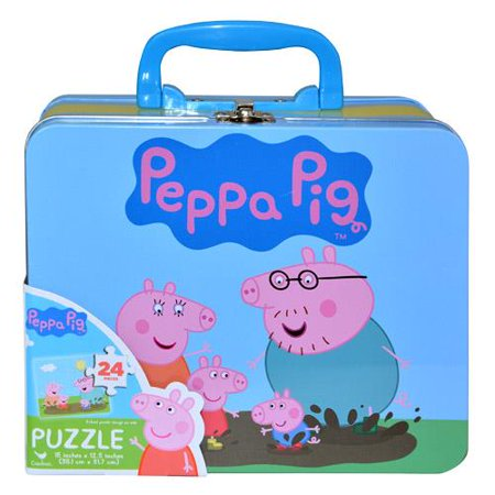 Cardinal Industries Peppa Pig Puzzle in Tin with (Arizona Cardinals Puzzle)