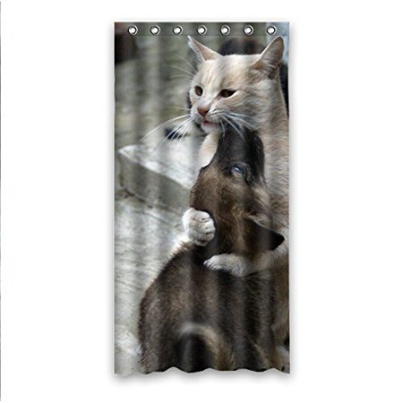 GreenDecor Dog Waterproof Shower Curtain Set With Hooks Bathroom Accessories Size 36x72 Inches