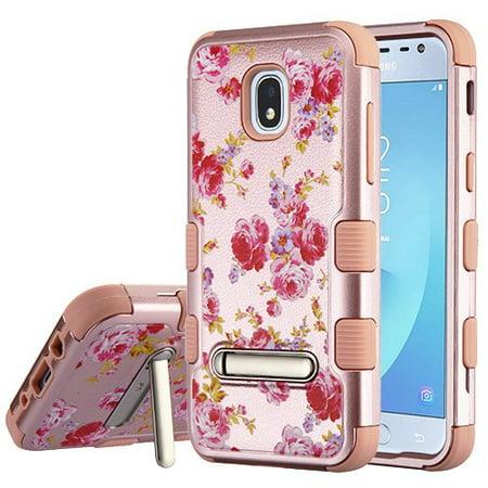 Samsung Galaxy J3 2018, J337, J3 V, J3 3rd Gen, J3 Star, J3 Achieve, Express Prime 3 Phone Case Tuff Hybrid Shockproof Dual Layer Soft Protective Hard Case with Magnetic -