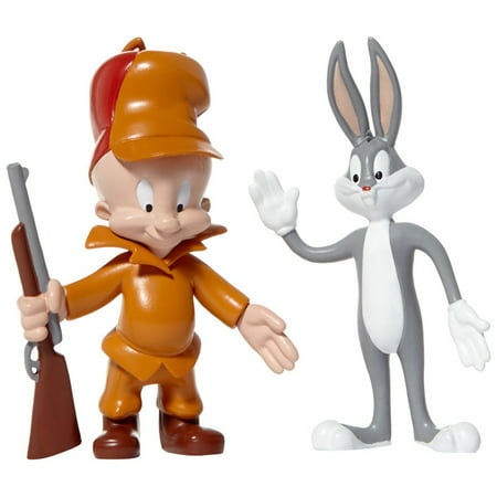 NJ Croce Looney Tunes Bugs Bunny & Elmer Fudd Bendable Action Figure - Bugs Bunny Space Jam Halloween