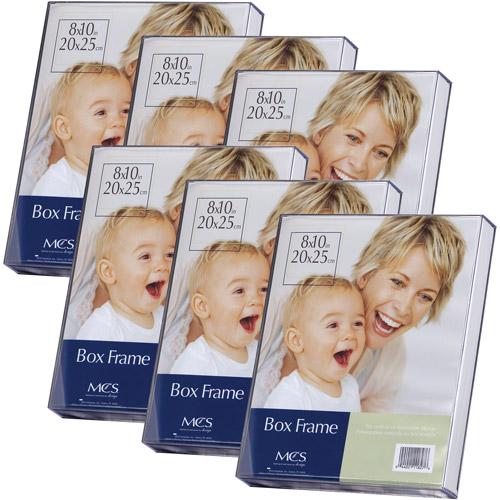 Acrylic Box Photo Frame, Set of 6