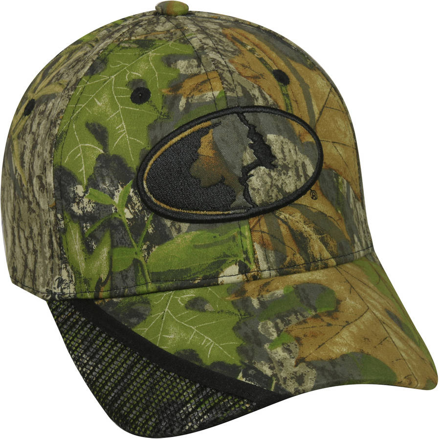 Mossy Oak Camo Call Pocket Cap, Mossy Oak Mountain Country Range Camo, Flexible Fitted