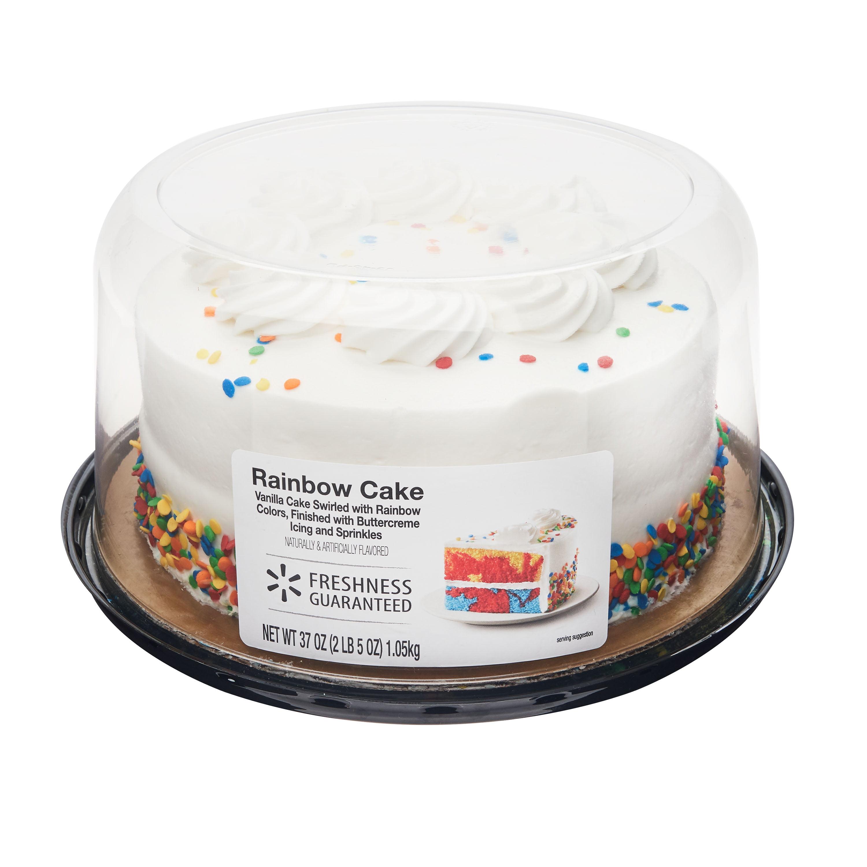 Peachy Freshness Guaranteed 7 Rainbow Cake Walmart Com Walmart Com Personalised Birthday Cards Arneslily Jamesorg