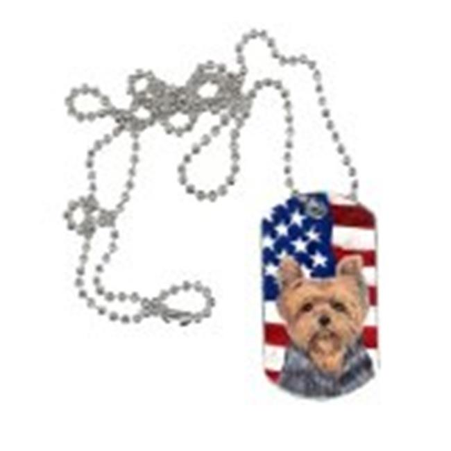 Carolines Treasures SC9111DT USA American Flag with Yorkie Dog Tag - image 1 de 1