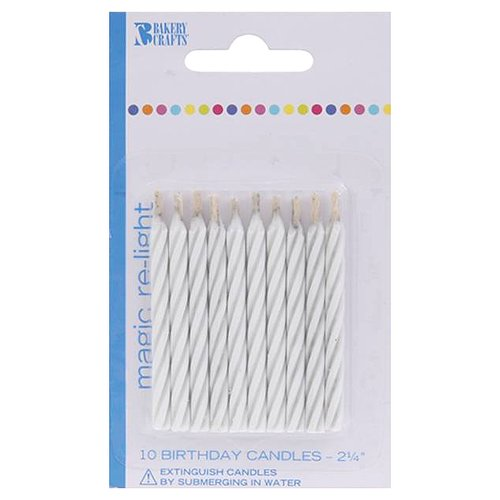 """Bakery Crafts Magic Re-Light Birthday Candles, 2.25"""", 10 ct"""