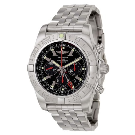 Breitling Chronomat GMT Black Dial Steel Automatic Mens Watch AB041210/BB48-384A