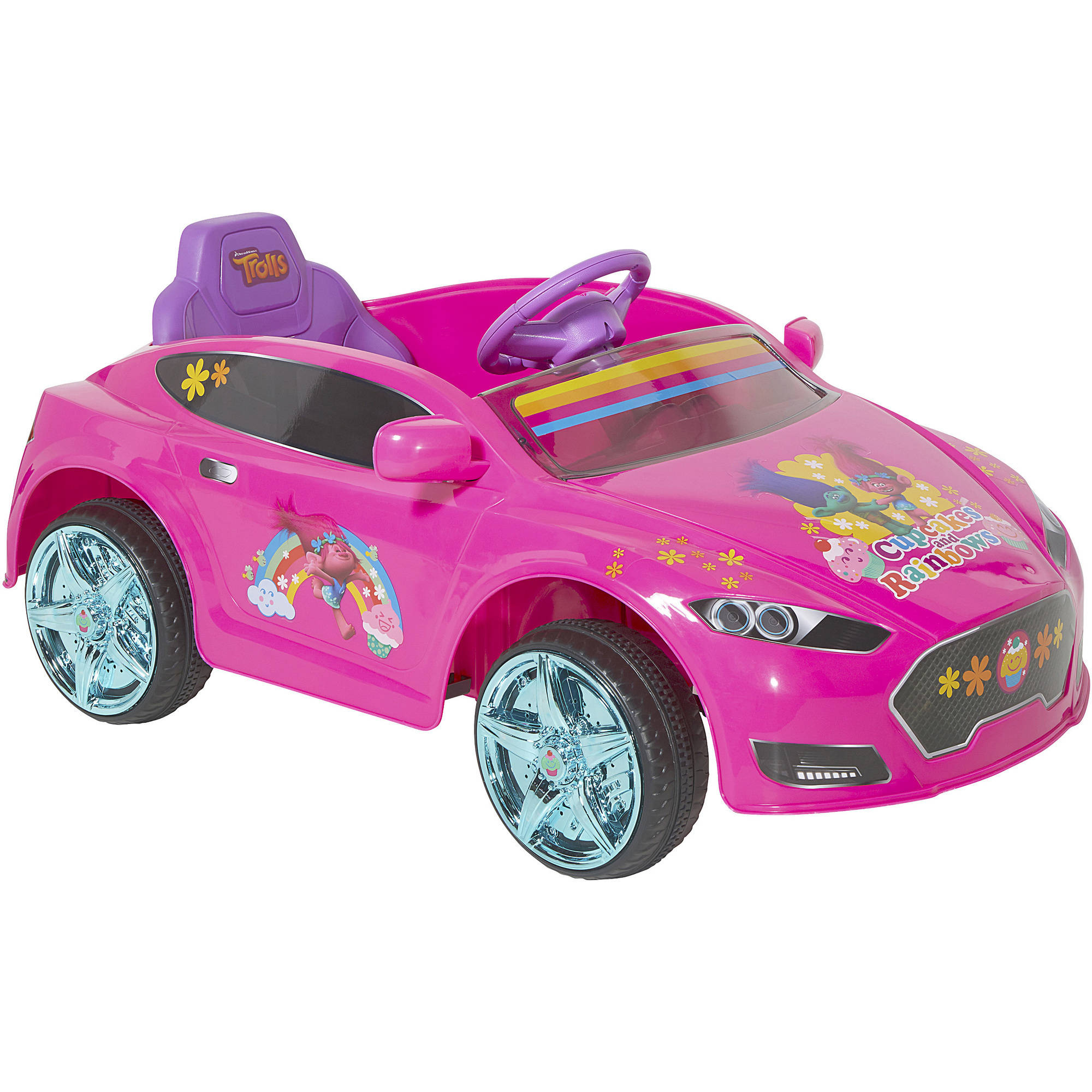 Trolls 6V Speed Electric Battery Powered Coupe Ride Walmart