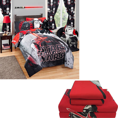Choose Your Character Comforter and Sheet Set Bundle (includes Star Wars, Teenage Mutant Ninja Turtles, Avengers, Spiderman, Paw Patrol and more)