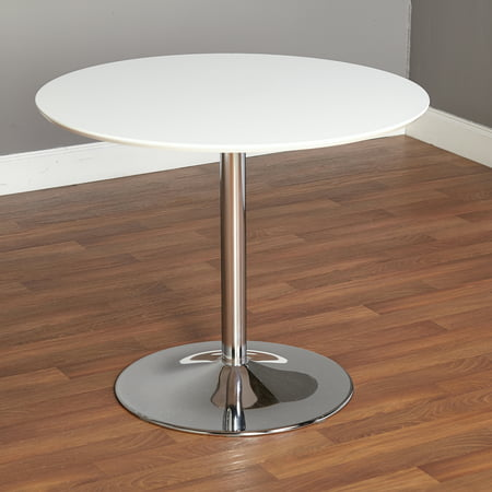 TMS Pisa Round Dining Table, Multiple Finishes Height Maple Finish Dining Table