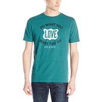 ba52a48287b Product Image Life is Good Men s Crusher Tee Do What You Like Shield  (Hunter Green)