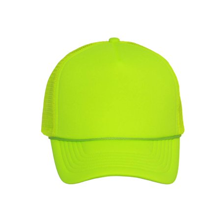 Structured Neon Trucker Mesh Hat - Blank Trucker Hats