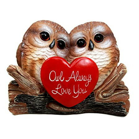 Atlantic Collectibles Romantic Owl Couple Love Birds Decorative Figurine 5.25