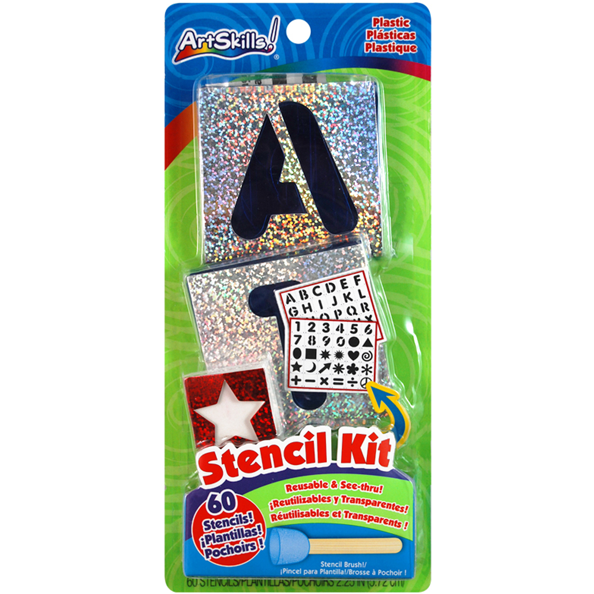 Reusable Letters, Numbers & Shapes Stencil Kit-