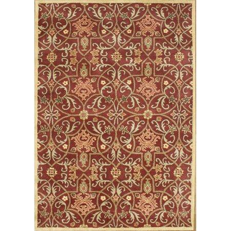 Image of Alliyah Rugs Alliyah Handmade Burgundy New Zealand Blend Wool Rug (5' x 8')