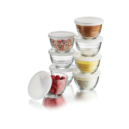 Libbey 16-Piece(8 Glass bowls & 8 Lids) 6.25-Ounce Glass Bowl S... Free (Glasses Free Shipping)