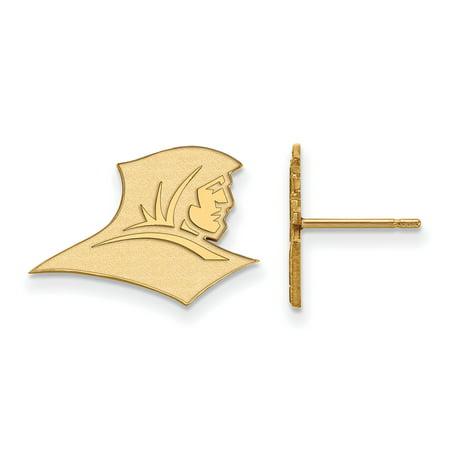 Logoart Sterling Silver W Gp Providence College Small Post Earrings Gp006prc