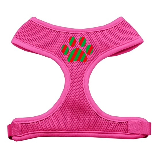 Mirage 70-07 LGRD Christmas Paw Soft Mesh Dog Harness Red Large