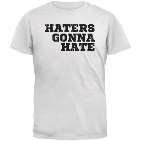 Haters Gonna Hate White Adult T-Shirt - Miranda Sings Haters Back Off Shirt