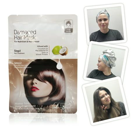 (2 Pack) Lindsay Home Aesthetics Damaged Hair Mask 1