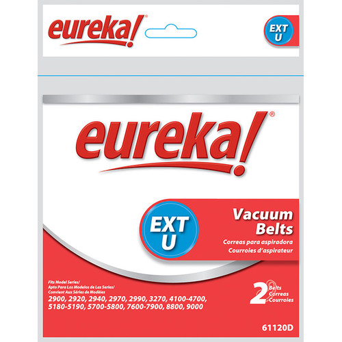 Eureka Type U Vacuum Cleaner Belt (Set of 2)