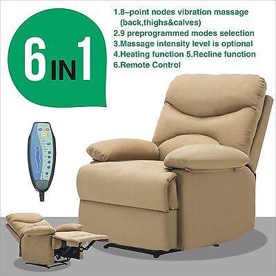 Uenjoy Massage Recliner Sofa Chair Microfiber Ergonomic Lounge Swivel Heated  W/Control