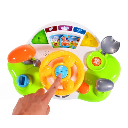 - Driving Steering Wheel Toys for Toddlers with Music and Sound