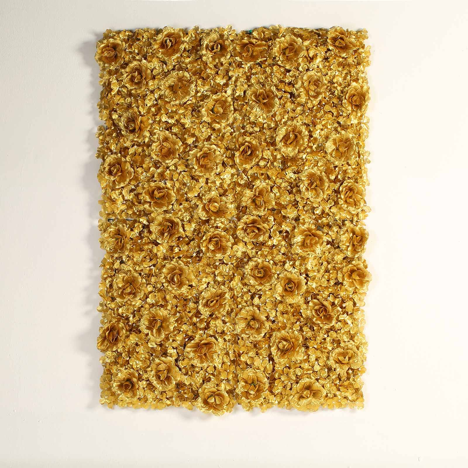 BalsaCircle 4 Silk Roses and Hydrangea Flowers Wall Background Wedding Party Photo Booth Artificial Floral Background