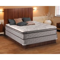 """Dream Sleep Madison Gentle Plush Pillowtop Mattress set with Bed Frame Included - Sleep System with Enhanced Cushion Support, Plush Knit Cover and Longlasting Comfort (King 76""""x80""""x13"""")"""