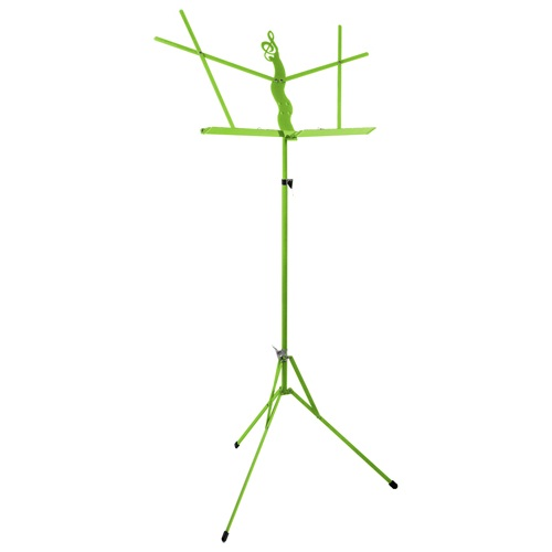 Folding Music Stand With Bag Lime Green by