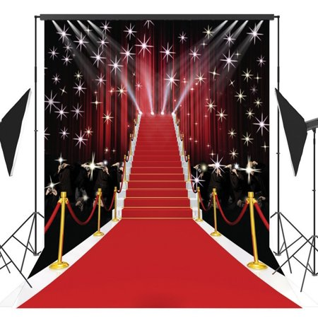 GreenDecor Polyster 5x7ft Stage Lighting Red Carpet Photography Backdrop Photo Video Studio Props Background](Carpet Photo)