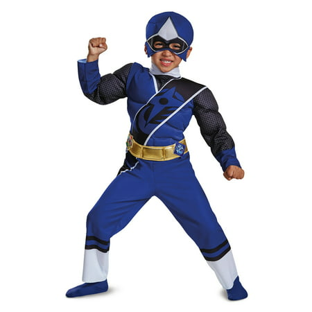 Power Ranger Blue Costume (Blue Ranger Ninja Steel Toddler Muscle)