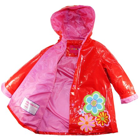 Wippette Baby Girls Rainwear Spring Flowers Raincoat Jacket