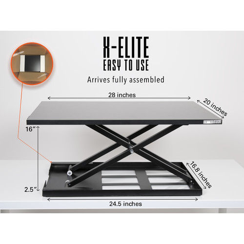 X Elite Standing Desk X Elite Pro Size 28in X 20in