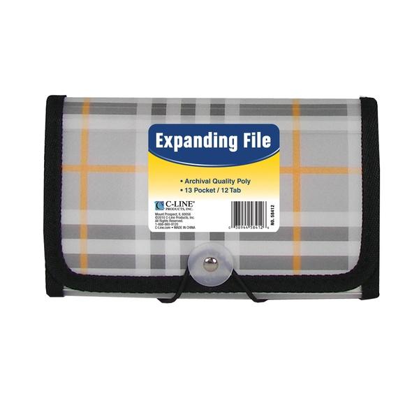 13-Pocket Coupon Size Expanding File, Plaid (Set of 6 Files) - image 1 of 1