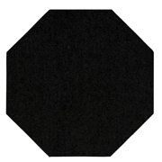 Color World Collection Way Solid Color Chocolate 2'x4' - Area Rug