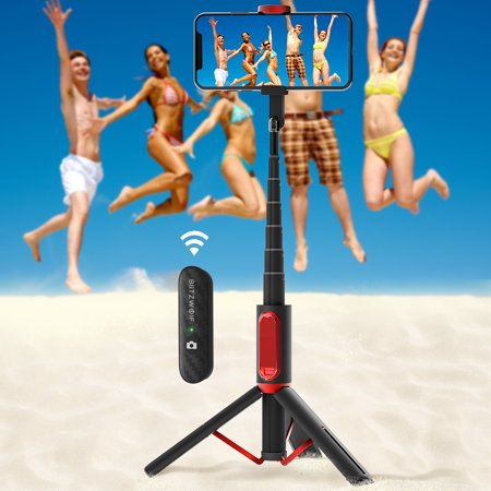 BW-BS10 All In One Portable Hidden Phone Clamp  Selfie Stick with Retractable Tripod  Remote Control Travel Accessories - image 7 de 7