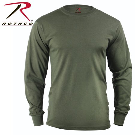 Rothco Long Sleeve Solid T-Shirt - Olive Drab, -