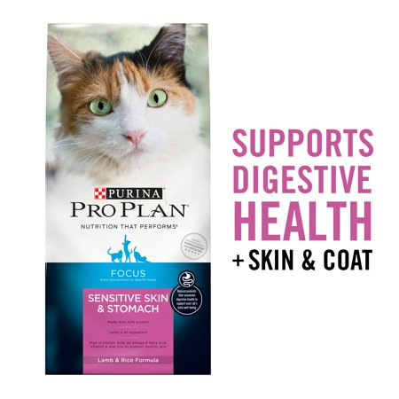 Purina Pro Plan FOCUS Sensitive Skin and Stomach Lamb and Rice Cat Food, 22 lb.