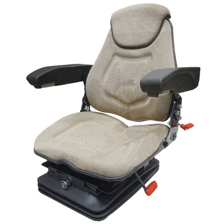 FAA1220 Brown Air Ride Tractor Seat Assembly with Headrest Armrests Lumbar