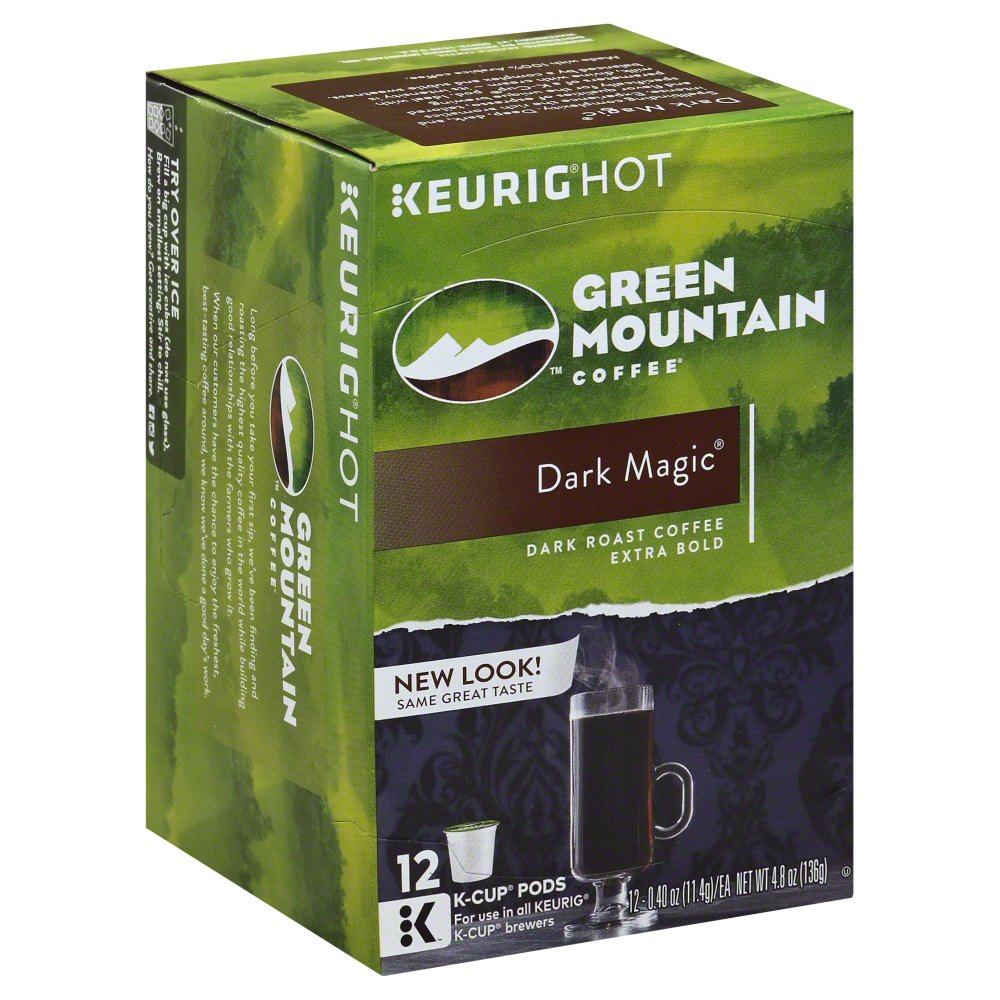 Green Mountain Coffee Green Mountain Coffee, Dark Magic, K-Cup Packs, 4.87 OZ (Pack of 6)